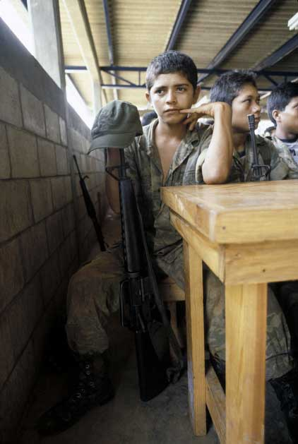 Thirteen year old jose was forcibly recruited by the salvadoran