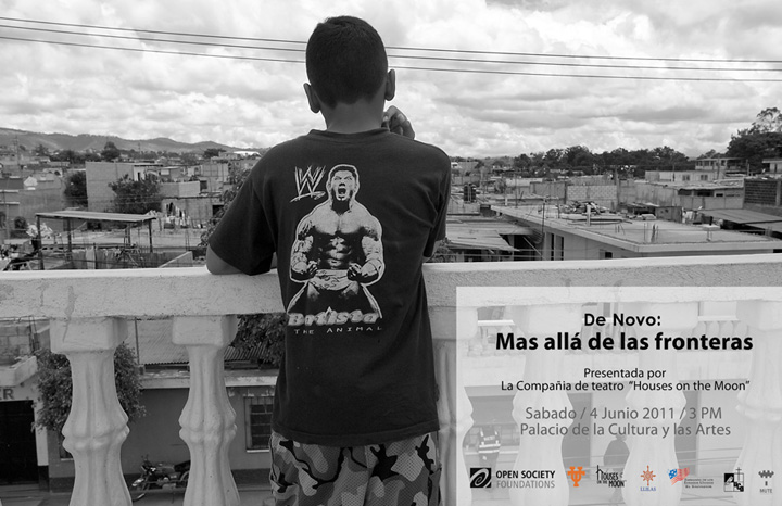 Poster for the production of 'De Novo' in Santa Tecla. Photograph by Donna DeCesare.