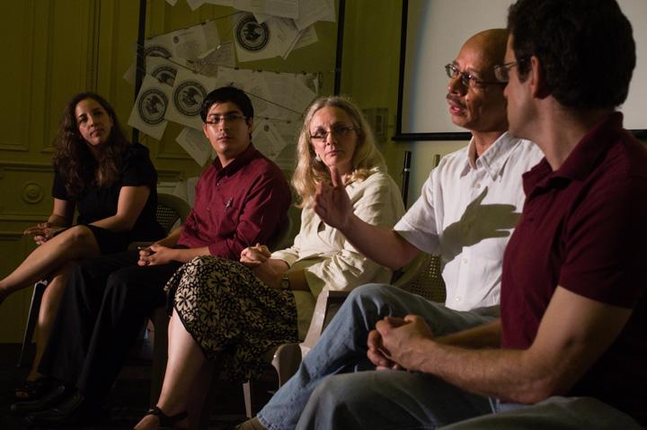 From left: Aryah Somers, Adilio Carillo, Donna DeCesare, Miguel Huezo Mixco & Jeff Solomon. Photo by Joey Castillo.
